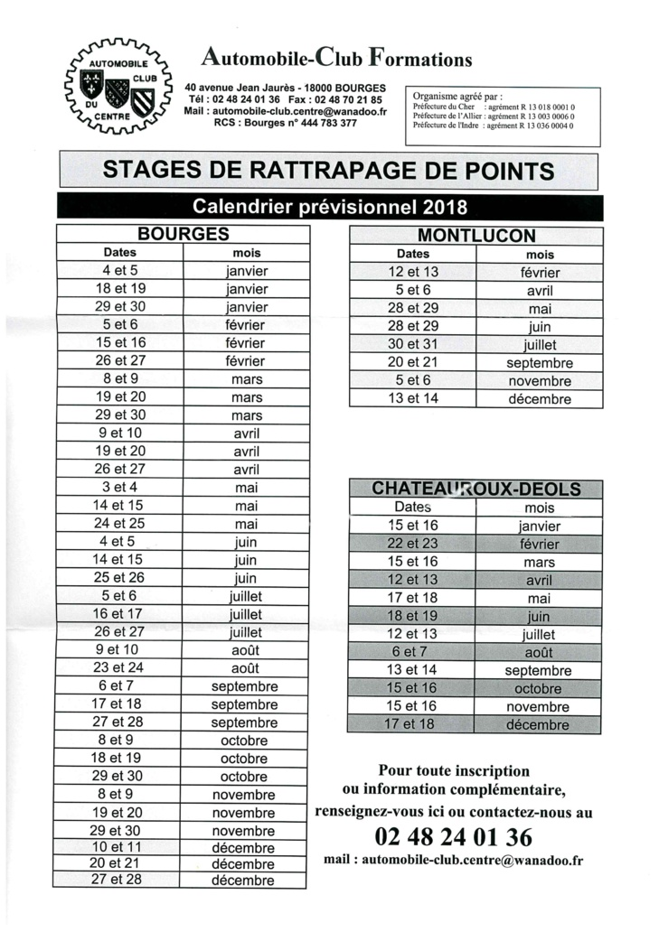 Rattrapage des points