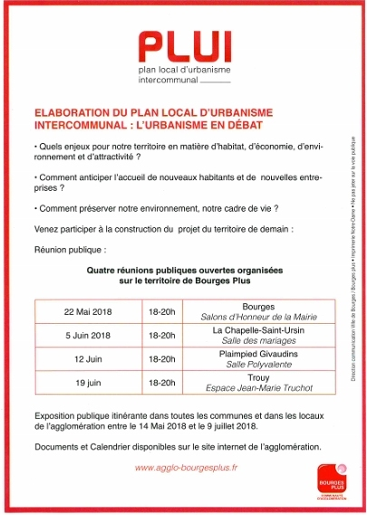 Élaboration du Plan Local d'Urbanisme Intercommunal (P.L.U.I.)