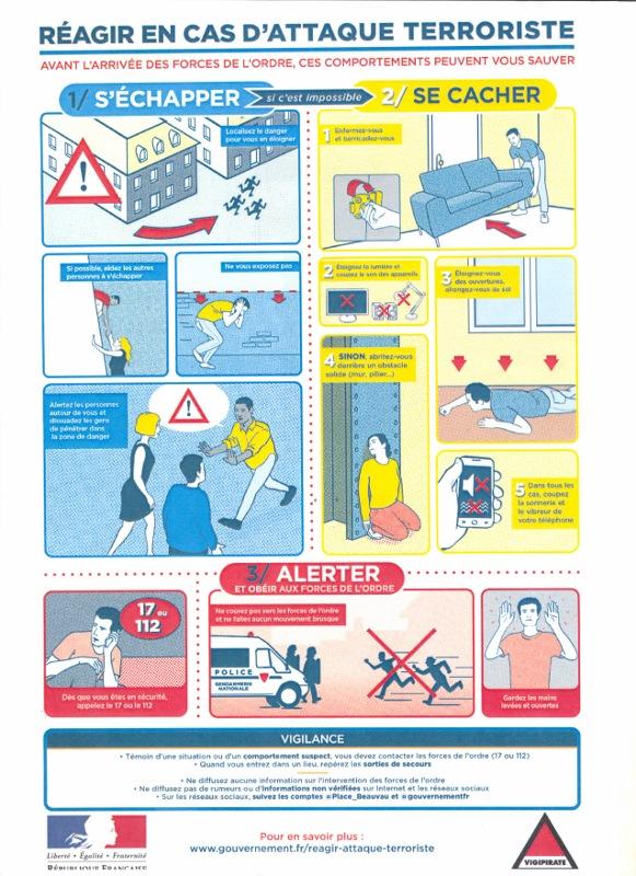 Conseils en cas d'attaque terroriste