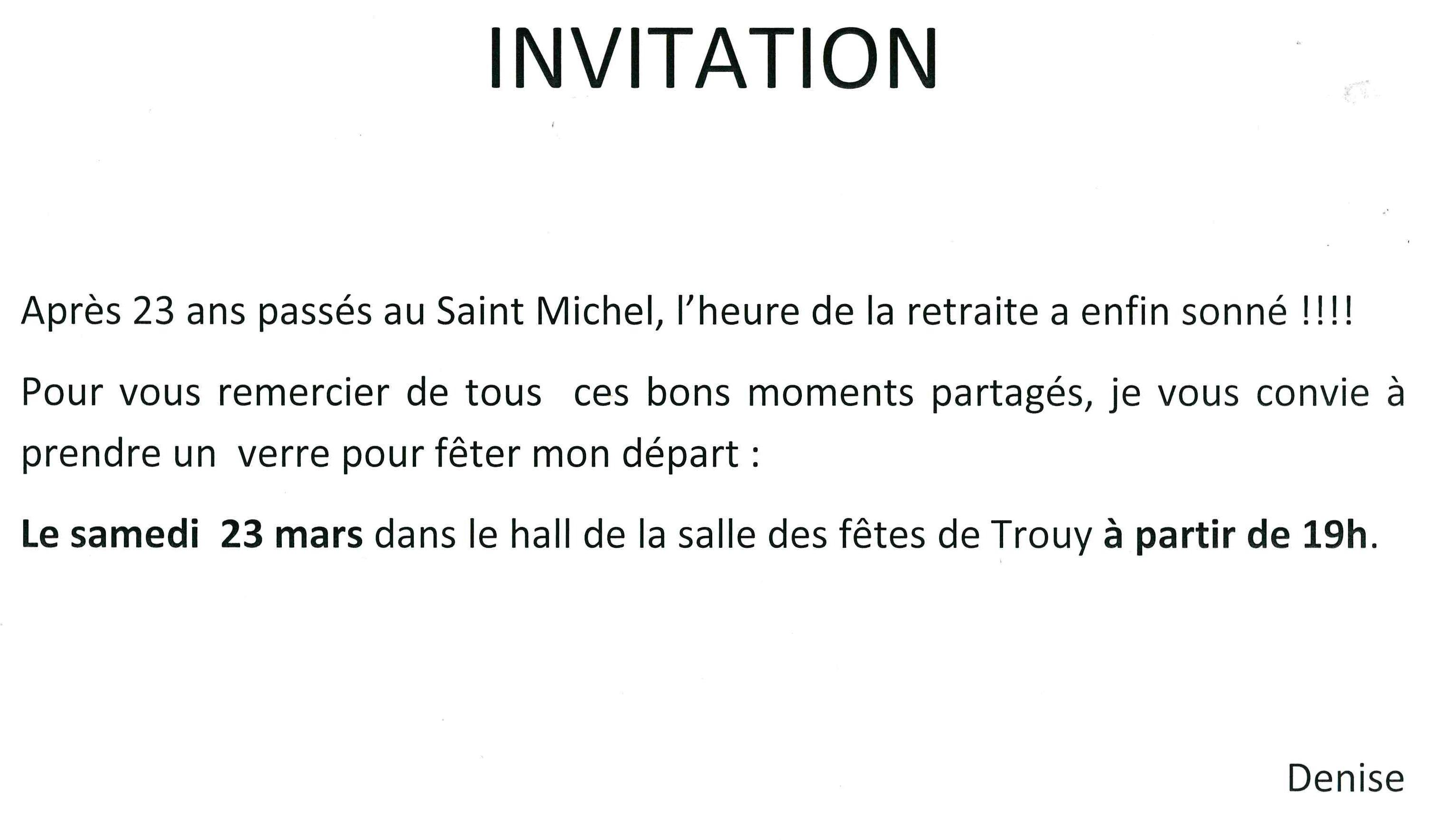 Retraite de Denise, café Saint Michel