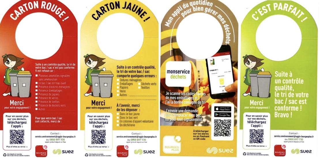Utilisation de cintres informatifs lors de la collecte des déchets