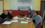 Visite de M. GUERINEAU, vice -président du Conseil général